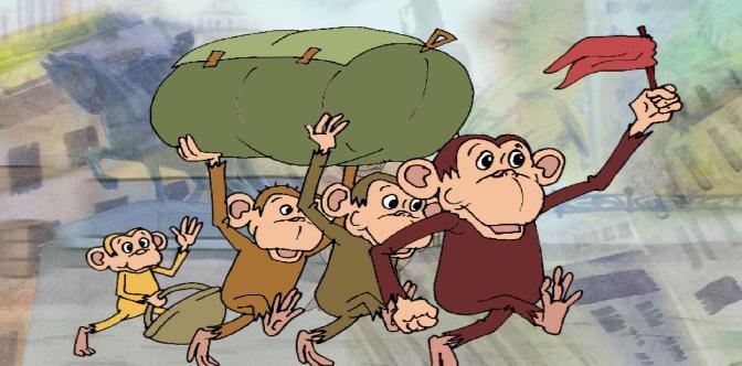 Четыре обезьяны смотреть