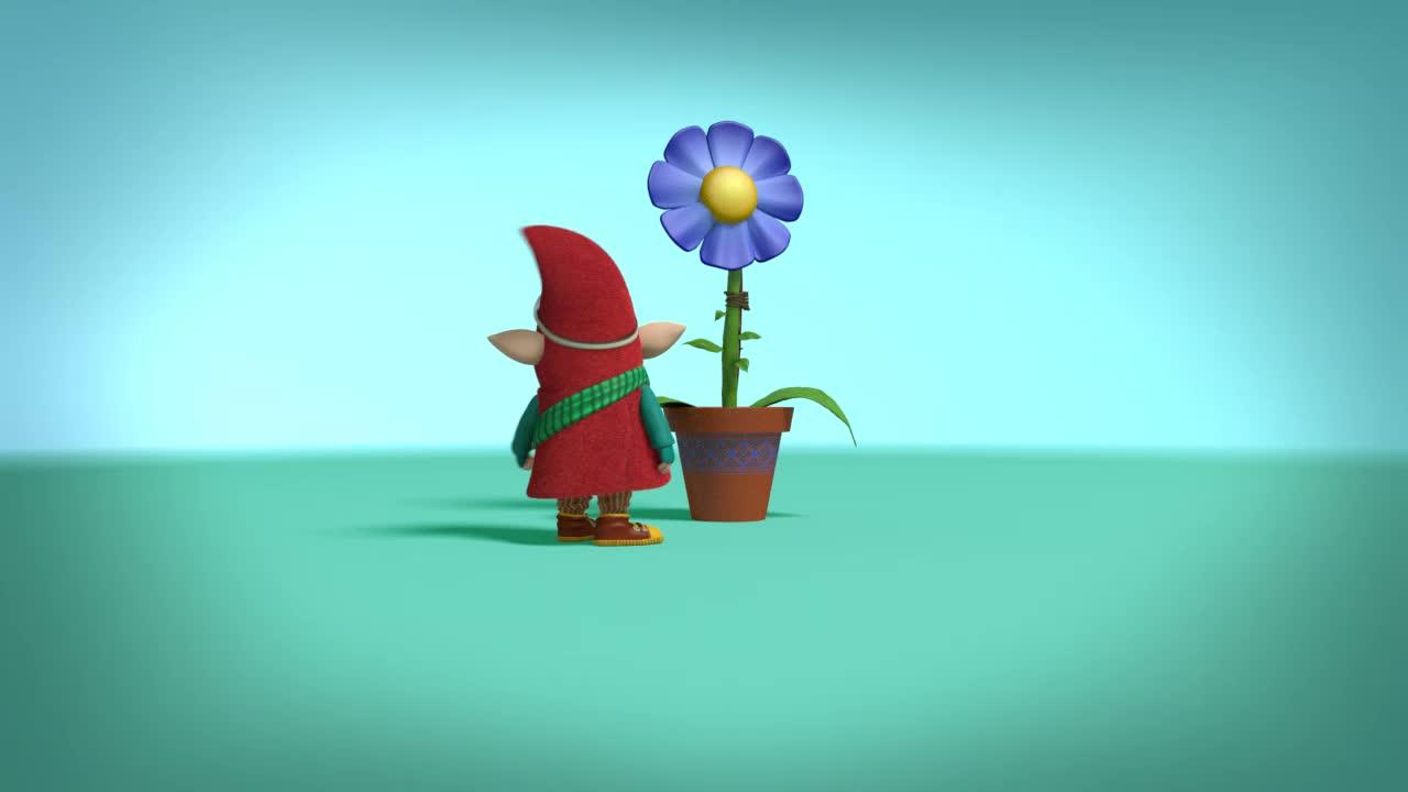 Домовёнок Плюх Домовёнок Плюх Цветок
