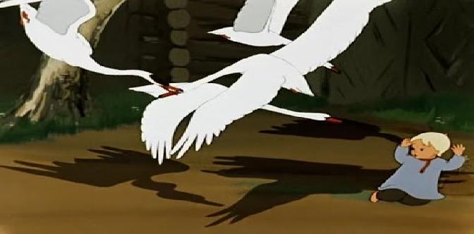 Гуси-лебеди. Советский мультфильм. Русская народная сказка. смотреть