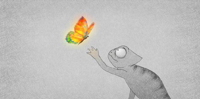 Хамелеон и бабочка смотреть