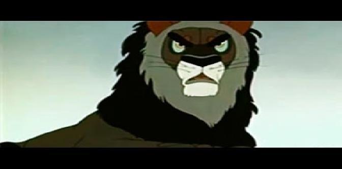 Лев и заяц. Советский мультфильм. Басня Гамзата Цадасы. смотреть