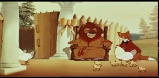 Лиса-строитель. Советский мультфильм. Басня И.А. Крылова. смотреть
