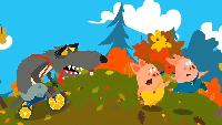 Мультфильм Три Поросёнка и Голодный Волк - Мультики для малышей. Развивающий мультфильм