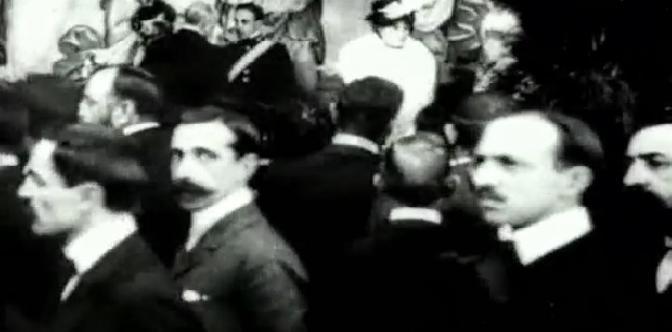 Прием Альфонса XIII в Барселоне смотреть