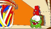 Раскраски Раскраски Мультик - раскраска - Учим цвета - Ам Ням и робот