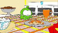 Раскраски Раскраски Мультик - раскраска - Учим цвета - Ам Ням - Любимая еда