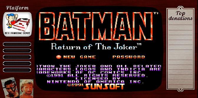 Старые старые игры. Выпуск 10. Batman – Return of the Joker на NES, Famicom, Денди смотреть