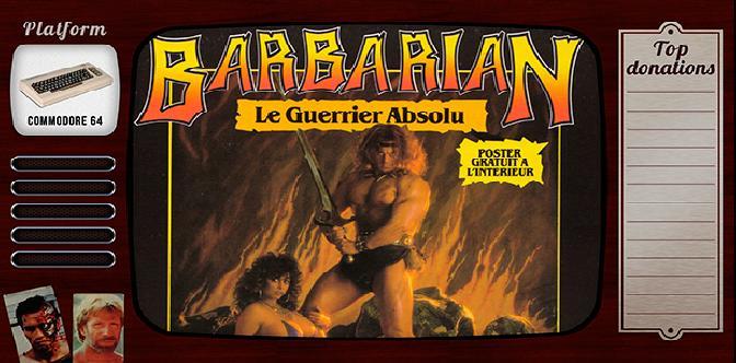 Старые старые игры. Выпуск 3. Barbarian: The Ultimate Warrior на commodore 64 смотреть