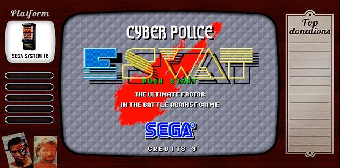 Старые старые игры. Выпуск 7. E-SWAT Cyber Polic на Sega System 16 смотреть