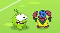 Учим английский с Ам Нямом Сезон-1 Ам Ням играет в футбол с крабами
